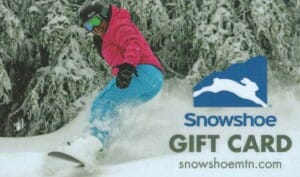 Snowshoe WV Gift Card