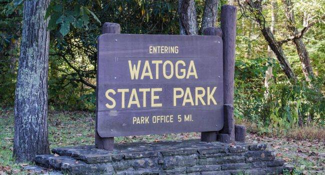 Watoga State Park Entrance Sign