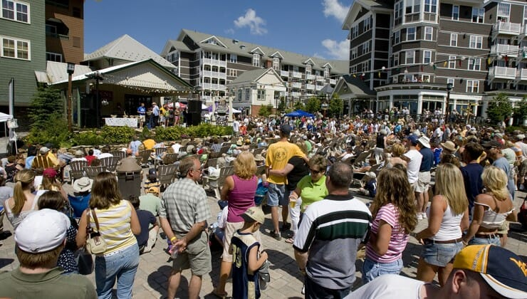 Snowshoe WV music and arts festival