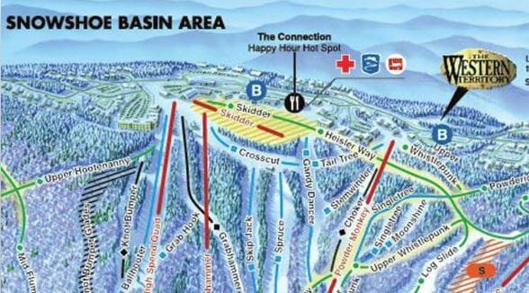 Snowshoe wv map