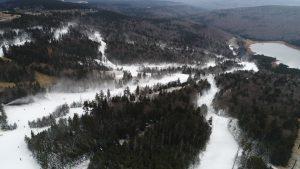 Snowmaking in Snowshoe West Virginia